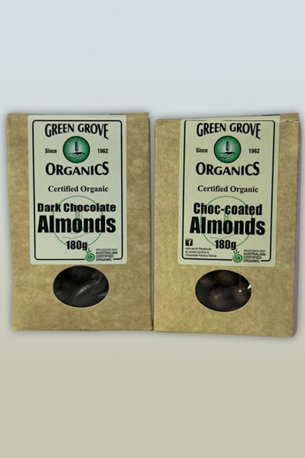 Milk Chocolate Almonds - Green Grove 150g