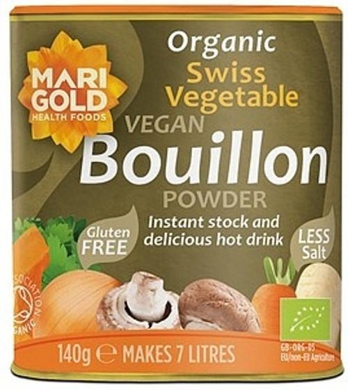Vege Swiss Bouillon Powder Low Salt 140g - Marigold Health