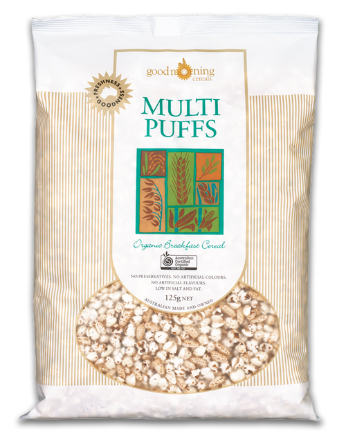 Puffs Multi Organic 125g - Good Morning Cereals