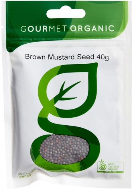 Mustard Seed Brown Organic 40g - Gourmet Organic