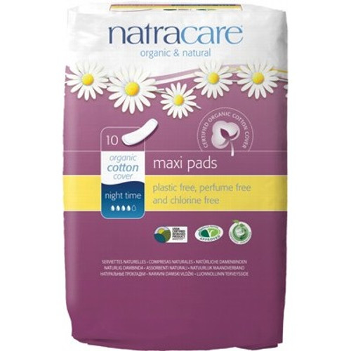 Pads Maxi Night Time 10 - Natracare