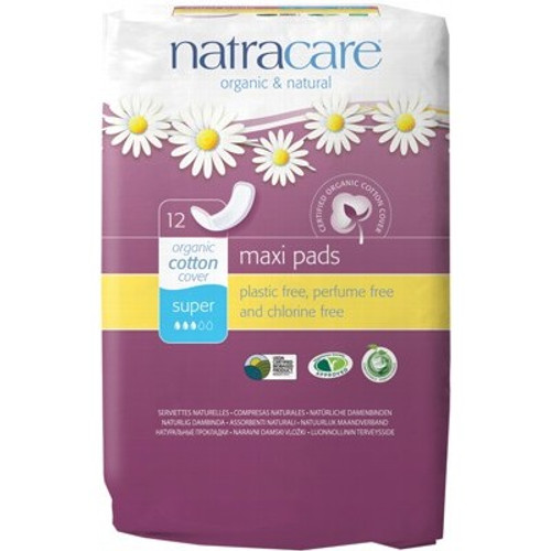 Pads Maxi No Wings Super 12 - Natracare