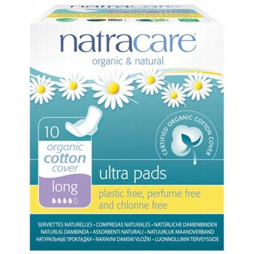 Pads Ultra with Wings  Long 10 - Natracare