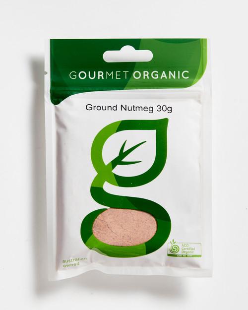 Nutmeg Ground Organic 50g - Gourmet Organics