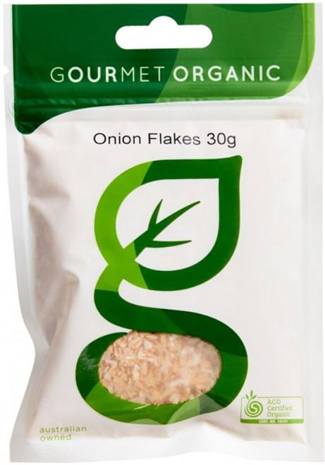 Onion Flakes Organic 30g - Gourmet Organics