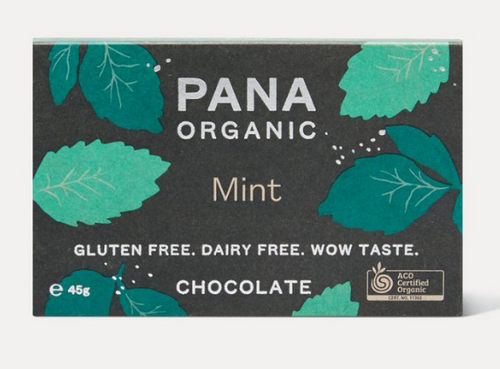 Dark Chocolate Mint Raw Organic 45g - Pana