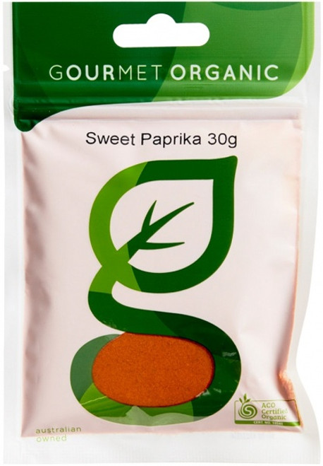 Paprika Sweet 30g - Gourmet Organics