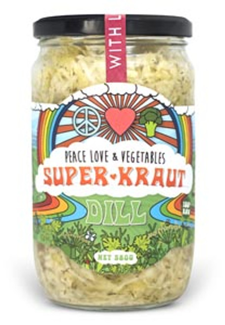 Superkraut Dill Organic 385g- Peace Love & Veges