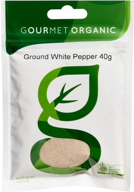 Pepper Ground White Organic 45g - Gourmet Organics