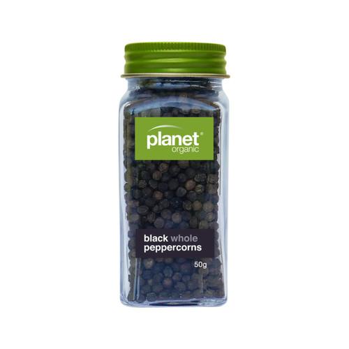 Pepper Whole Black Shaker Organic 60g - Planet Organic