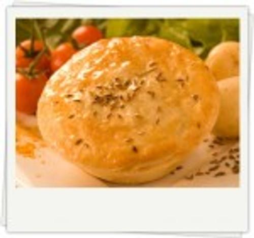 Curry Veg Pie (Vegetarian) Organic Frozen - Byron Gourmet