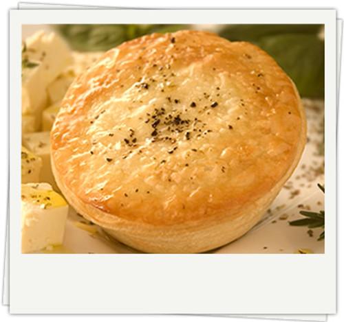 Spinach & Pesto Pie (Vegetarian) Organic Frozen - Byron Gourmet
