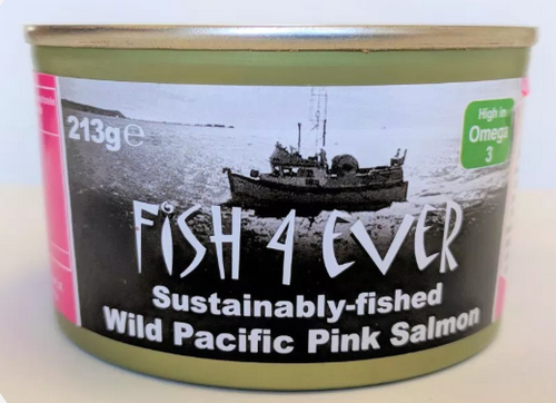 Salmon Pink Wild Pacific (With Bones) 213g - Fish 4 Ever