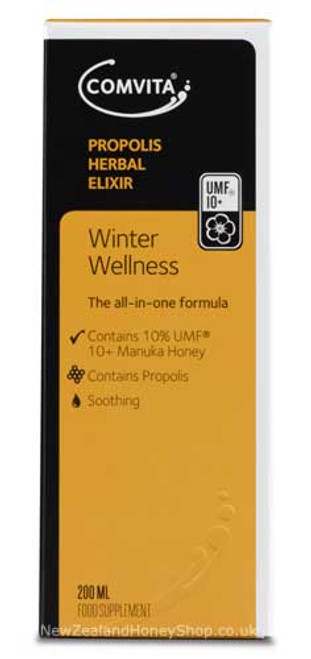 Propolis Herbal Elixir Winter Wellness 10% Manuka UMF 10+ 200ml