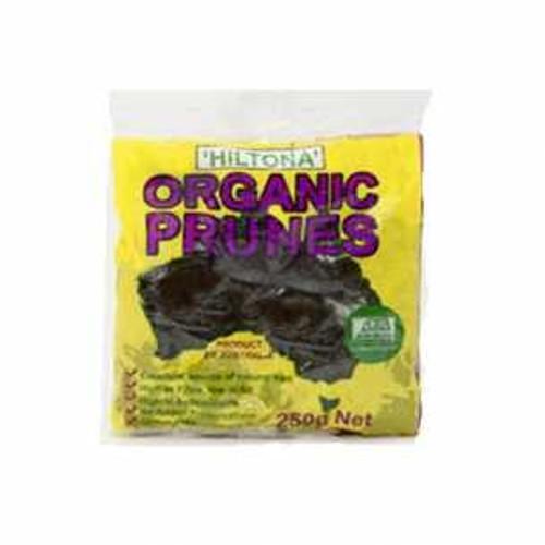 Prunes Moistened Organic 250g - Hiltona