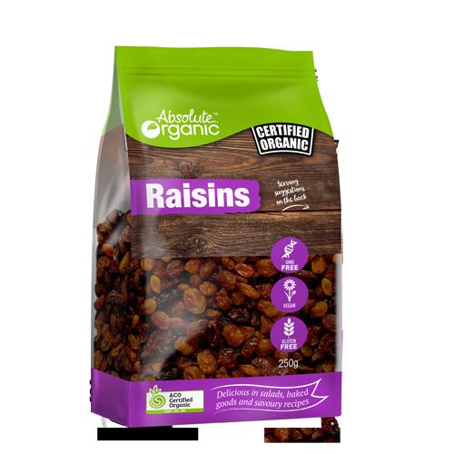 Raisins Organic 250g - Absolute Organic