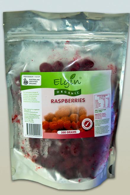 Raspberries Frozen Organic 350g - Elgin