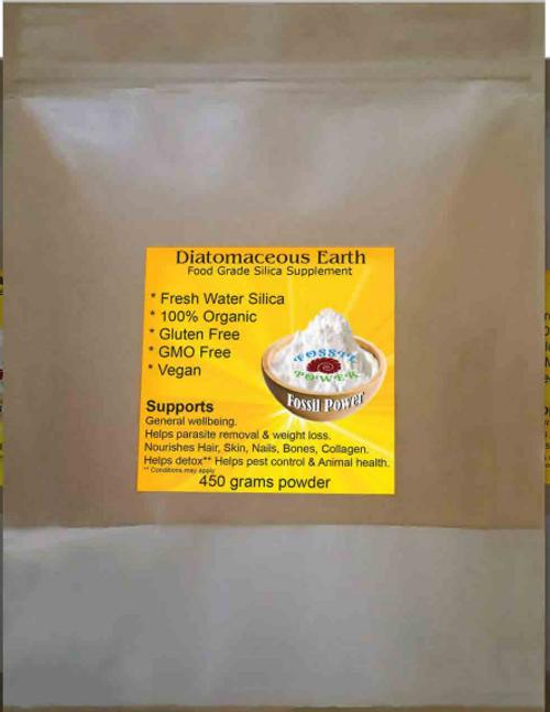 D.etox Silica Diatomaceous Earth Organic 450g - Fossil Power