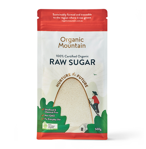 Raw Sugar Organic 500g - Organic Mountain