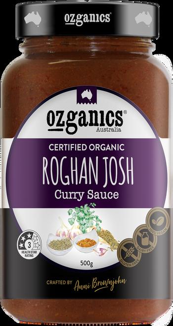 Curry Simmer Sauce Rogan Josh Organic 500g - Ozganics