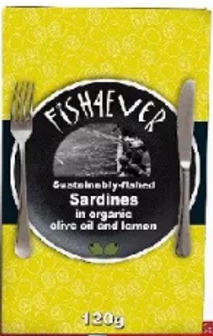 Sardines in Olive Oil & Lemon 120g - Fish 4 Ever