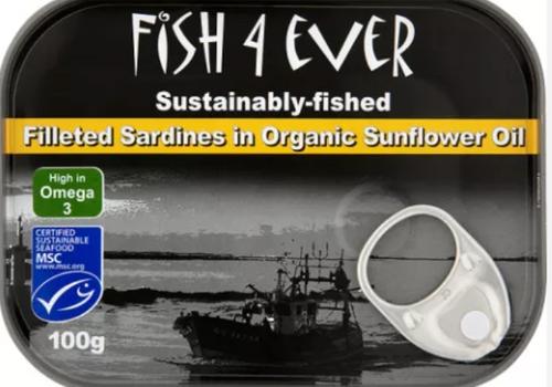 Sardines In Organic Sunflower Oil 120g - Fish 4 Ever