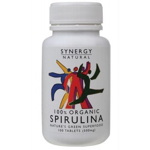 Spirulina Tablets %500mg) x 100 - Synergy Organics