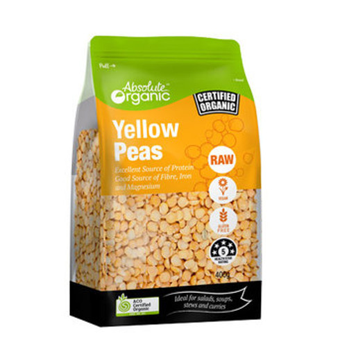 Peas Yellow Split Organic 400g - Absolute Organic