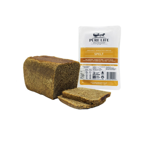 Sprouted Bread Spelt Biodynamic Organic 1kg - Pure Life *Pre-order to ensure Supply