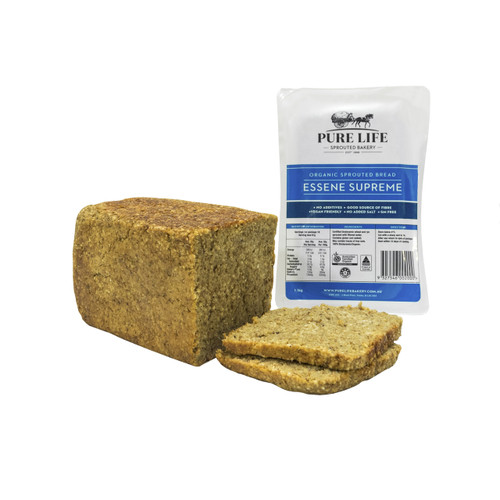 Sprouted Bread Essene Supreme Biodynamic Organic 1.1kg - Pure Life *Pre-order to ensure Supply