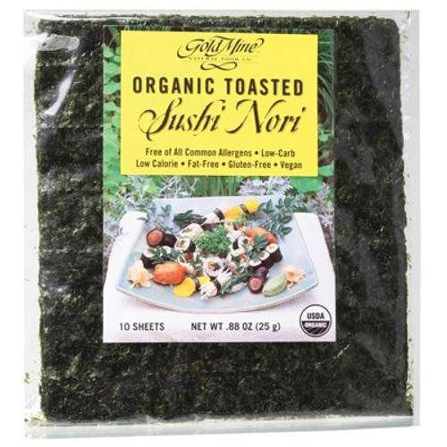 Sushi Nori Toasted Organic 10 Sheets - Gold Mine