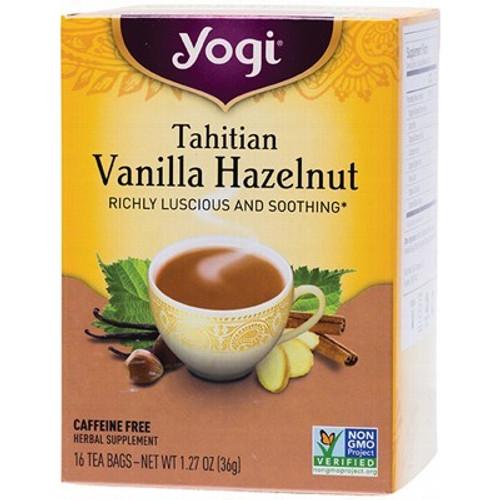 Tahitian Vanilla Hazelnut Tea 16 Bags- Yogi Tea