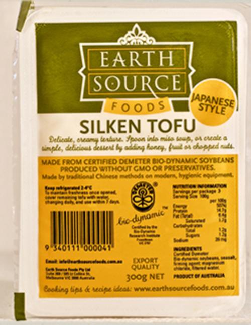 Tofu Silken Organic 300g - Earth Source *pre-order to ensure supply
