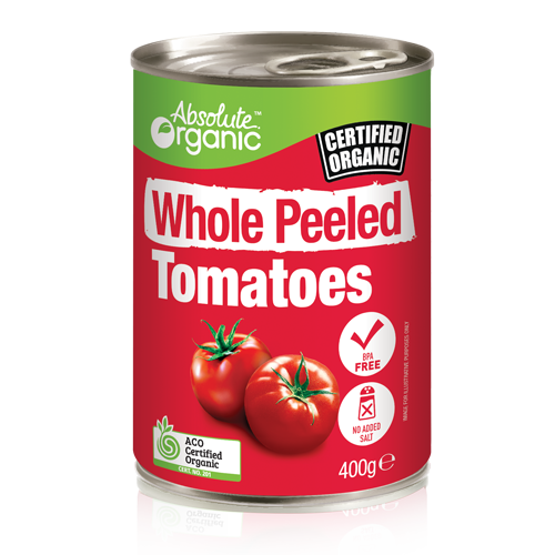 Tomatoes Whole Peeled 400g - Absolute Organic