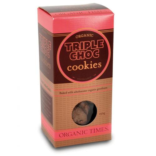 Triple Choc Cookies 70g - Organic Times