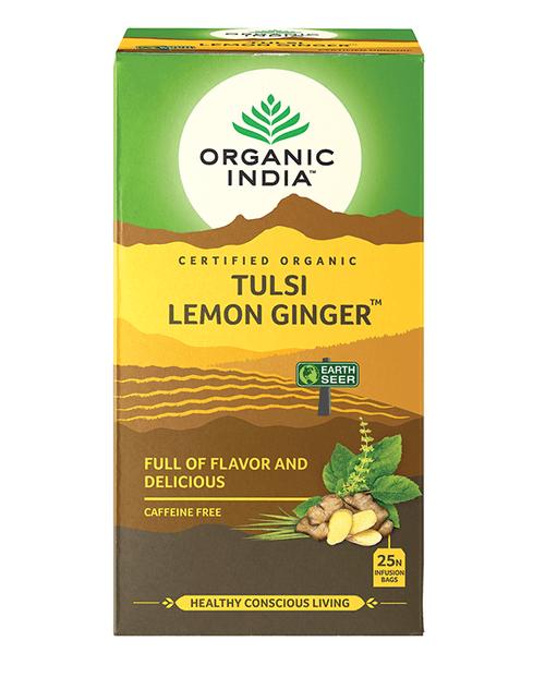 Tulsi Lemon Ginger Tea Organic 25 Bags - Organic India