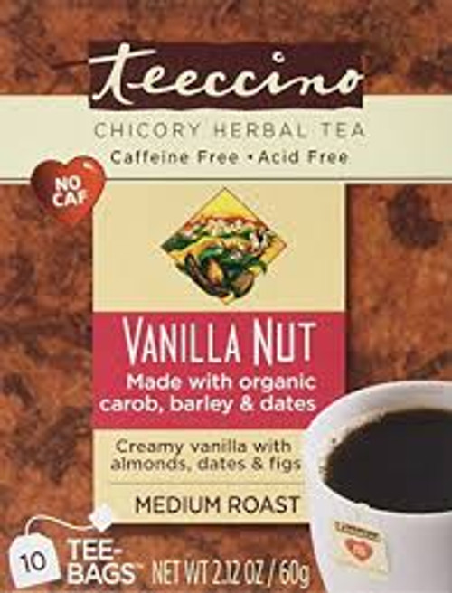 Herbal Coffee/Tea Vanilla Nut 10 Bags - Teeccino