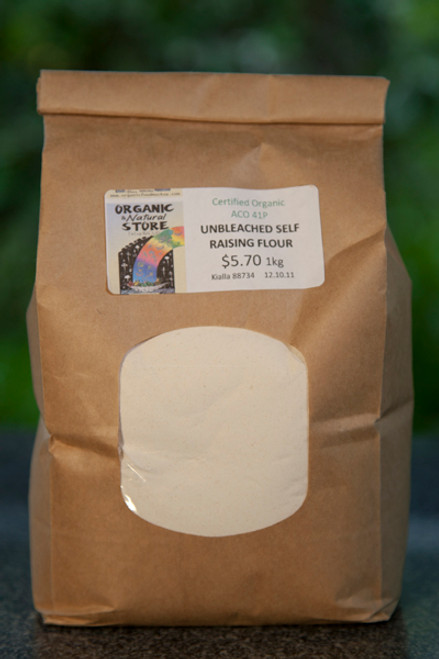 Self Raising Unbleached Flour Organic 1kg - ONS