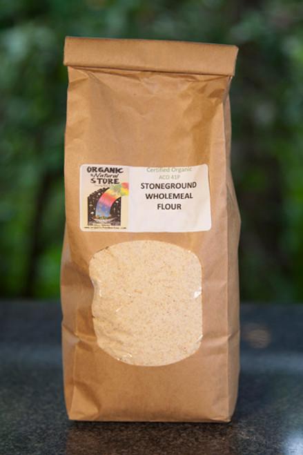 Wholegrain Stoneground Plain Flour Organic 1kg - ONS