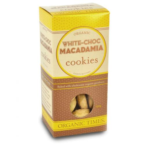 White Choc Macadamia Cookies 70g - Organic Times