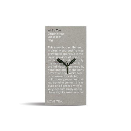 White Tea Loose Leaf Organic 50g - Love Tea