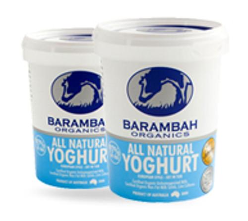 Yoghurt Natural Organic 1kg- Barambah