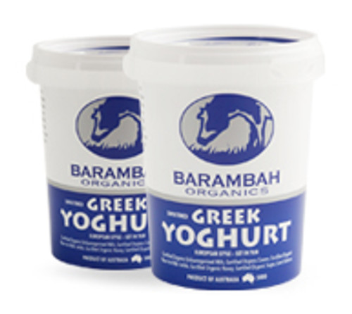 Yoghurt Sweetened Greek Organic 500g - Barambah