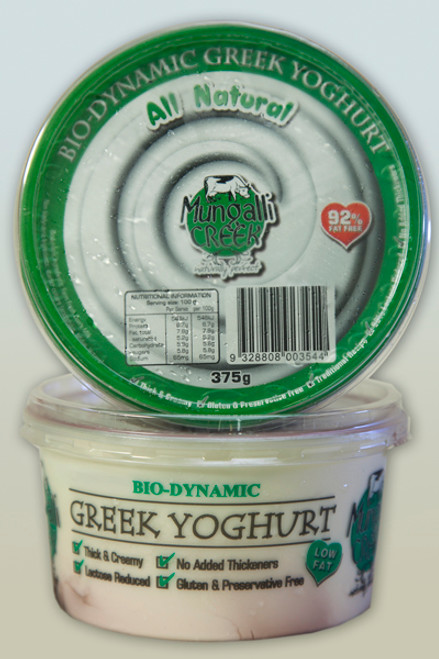 Yoghurt Greek Style Natural Organic 375g - Mungalli