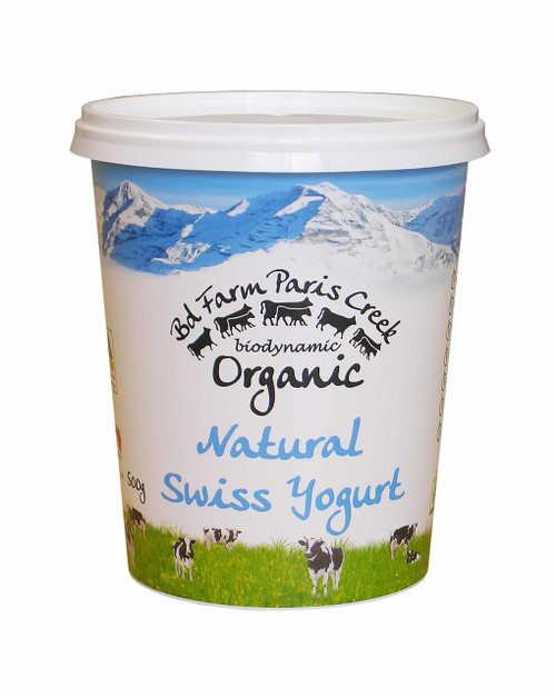 Yoghurt Swiss Natural Organic 500g - Paris Creek
