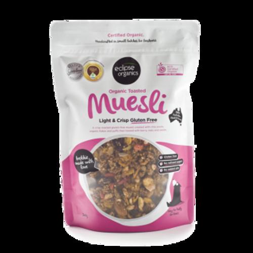 Muesli Gluten Free Light & Crisp Toasted Organic 380g - Eclipse Organics