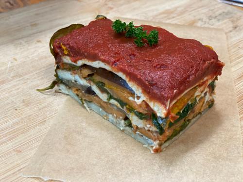 Lasagne Vegan Organic - per slice
