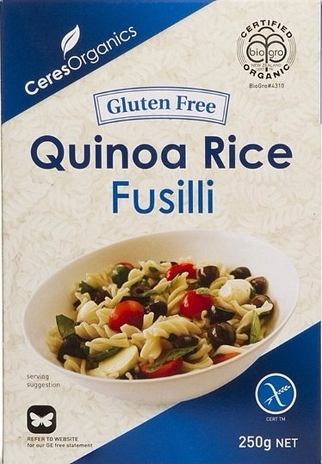 Quinoa Rice Fusilli 250g - Ceres Organics