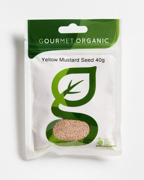 Mustard Seeds Yellow Organic 40g - Gourmet Organic