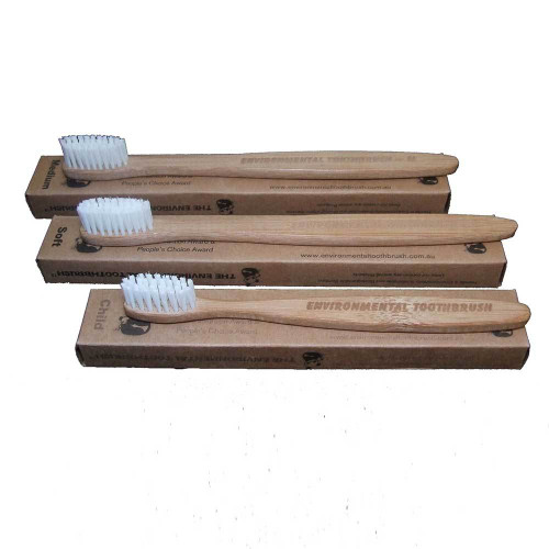 Toothbrush Bamboo (white bristles) Adult Medium - The Environmental Toothbrush